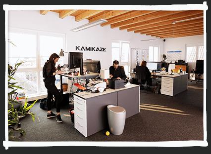 kamikaze einblicke büro